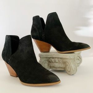 Frye Reina Cutout Bootie Suede V-slit Boots 8.5 M
